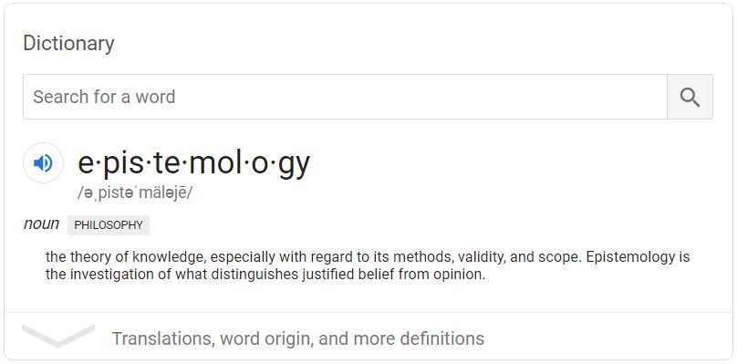 definition of epistemology