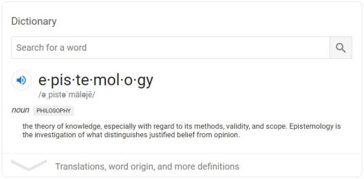 definition of epistemology